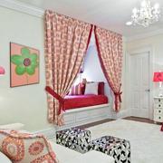 小洋房欧式风格卧室阳台榻榻米装饰效果图