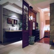 卫生间实木隔断整体设计