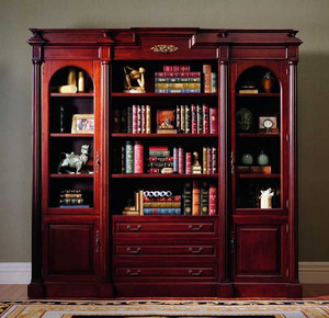 三居室实木耐用书柜装修效果图