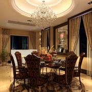 别墅法式浪漫餐厅装修效果图