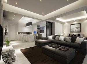 128平米清新风格客厅装修效果图
