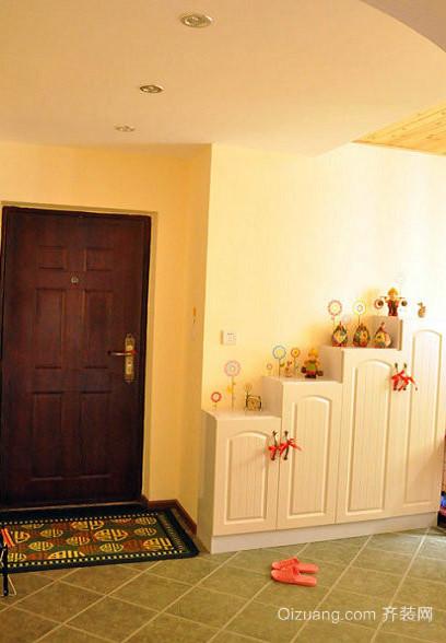 复式楼韩式简约风格进门玄关装修效果图
