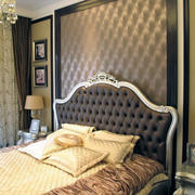 唯美卧室背景墙设计图