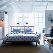 北欧风格清新梦幻白色系卧室装修效果图