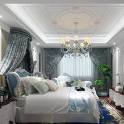 卧室窗帘图案设计