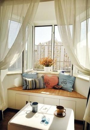大户型韩式简约风格内嵌式阳台清新飘窗装饰