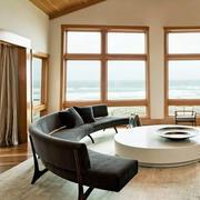 日式简约风格客厅木地板装饰