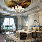 别墅法式简约风格卧室吊顶装饰效果图