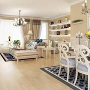 欧式田园风格客厅木地板设计