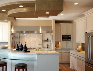 美式简约风格客厅地板装饰