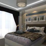大户型欧式卧室床头背景墙装修效果图