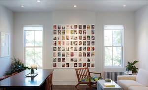 小户型单身公寓客餐厅照片墙设计效果图