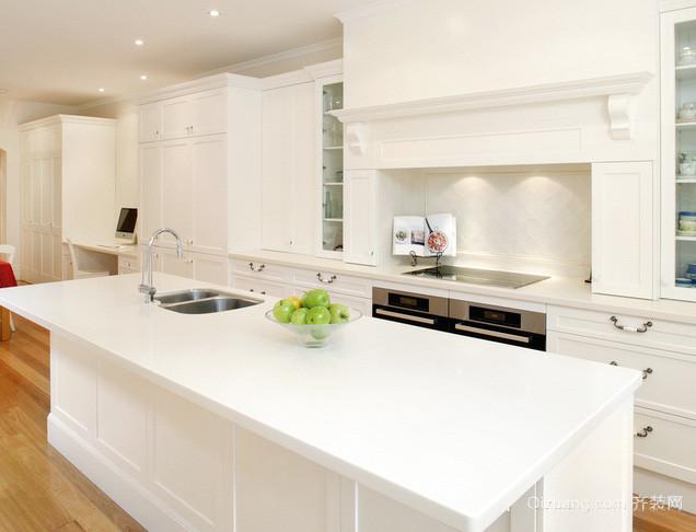 复式楼欧式风格白色系奢华厨房装修效果图