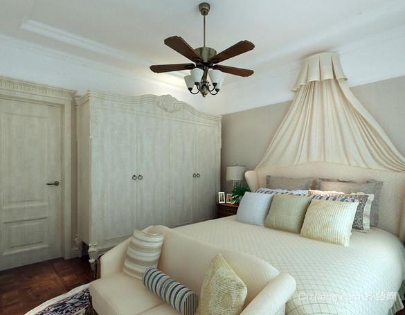 大户型米白色欧式奢华风格卧室装修效果图