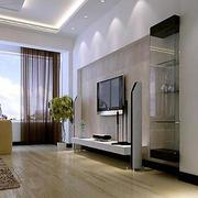 后现代风格客厅木地板装饰