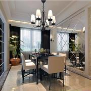 大户型欧式家庭餐厅餐桌椅装修效果图