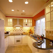 30平米韩式简约风格厨房装修效果图