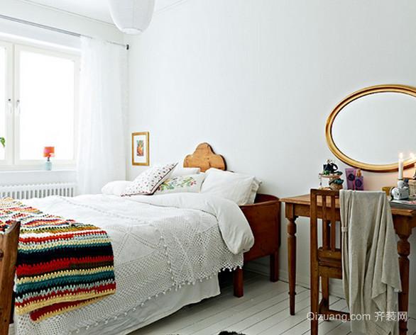 都市简约风格白色系单身公寓卧室装修效果图