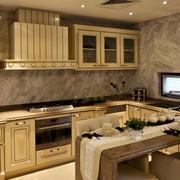 别墅美式简约风格厨房装修效果图