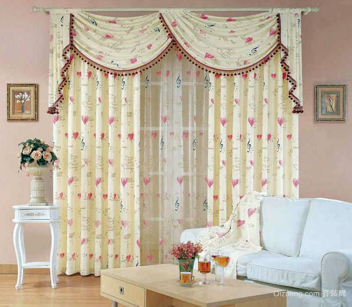 浪漫小客厅田园素雅窗帘装修效果图