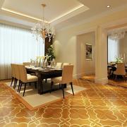 简约欧式风格客厅地板装饰