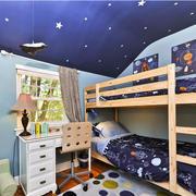 现代大户儿童房高低床装修效果图
