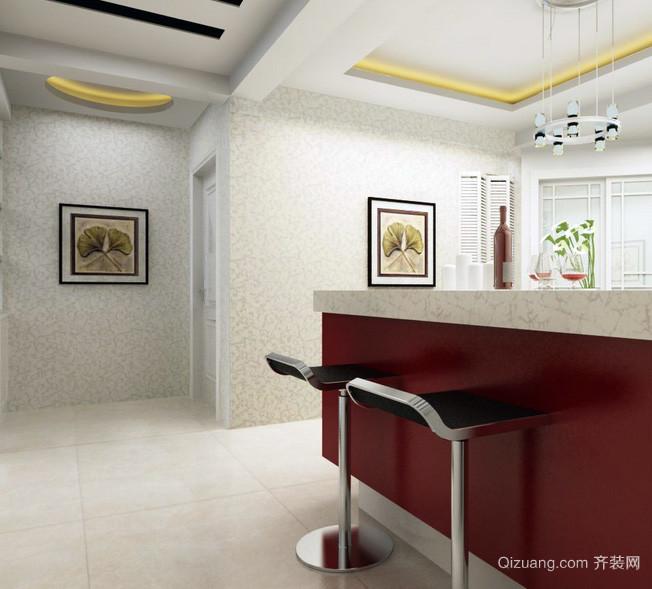 三居室宜家风格吧台设计装修效果图