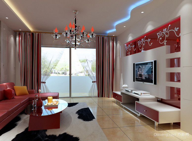 145平米田园风格客厅设计装修效果图