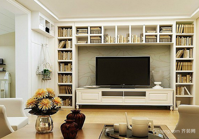 北欧小户型一物两用的电视背景墙装饰