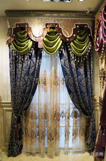 大户型欧式客厅飘窗窗帘装修效果图
