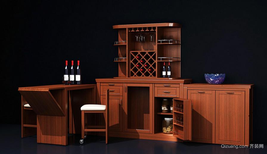 69平米轻奢款欧式小户型酒柜装修效果图