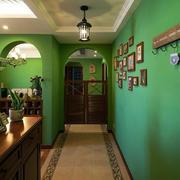 120平米美式简约风格客厅照片墙装饰