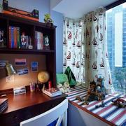 小书房混搭实用飘窗装修设计效果图
