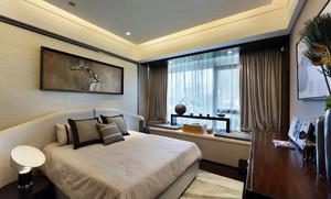 儒雅有气质的卧室飘窗装修设计效果图
