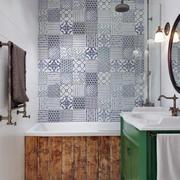 公寓浴室背景墙瓷砖展示