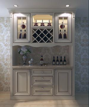 2016新款地中海大户型客厅酒柜装修效果图