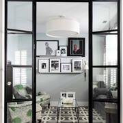 北欧风格简约冷色系客厅照片背景墙装饰