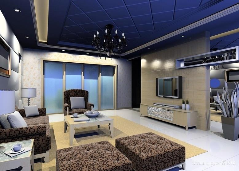 别墅豪华型客厅设计装修效果图