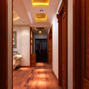 中式简约风格走廊吊顶装饰