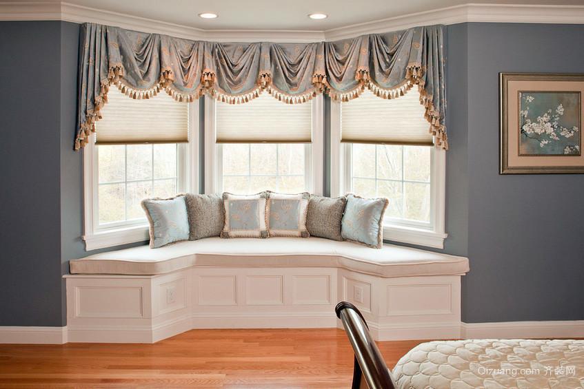 2015别墅美观的飘窗窗帘效果图
