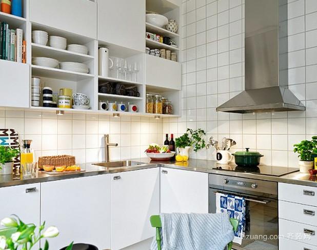 北欧风格小户型简约开放式厨房装饰