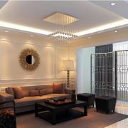 简约现代家装客厅吊顶装修设计效果图