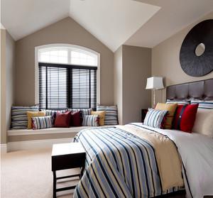 摩登复式楼阁楼卧室飘窗设计装修效果图