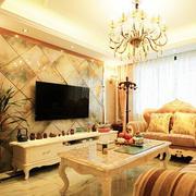 小复式楼欧式风格客厅电视背景墙效果图