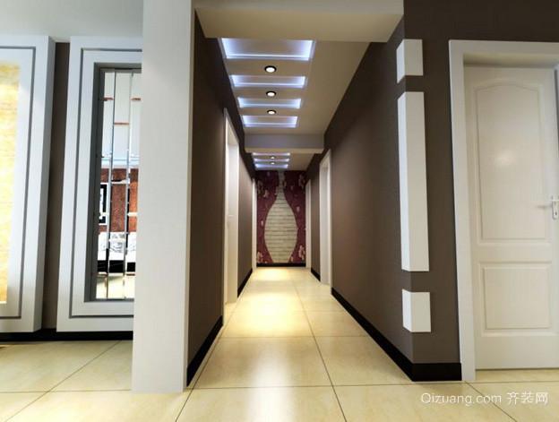 三室一厅大户型简约走廊吊顶装修效果图