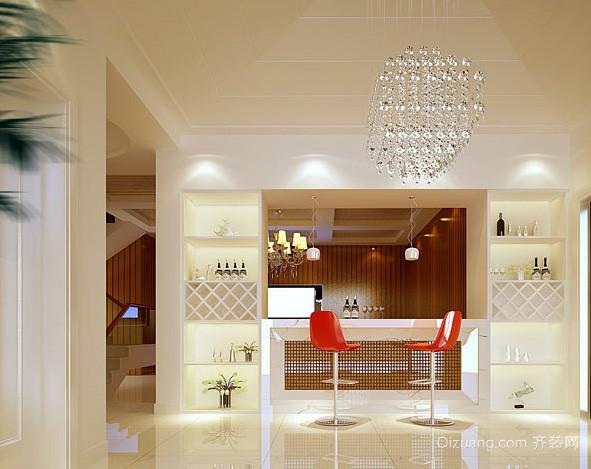 三居室现代简约风格时尚吧台装修效果图