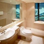 单身公寓都市风格卫生间设计装修效果图