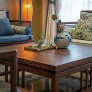 公寓客厅实木茶几欣赏