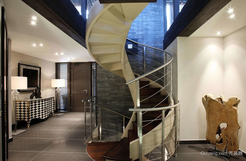 118平米时尚风格楼梯设计装修效果图