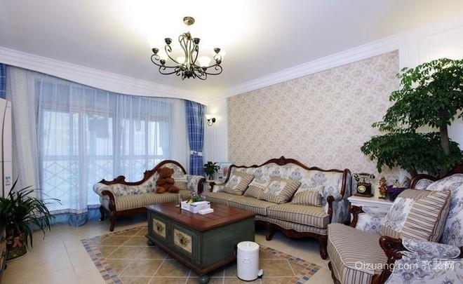 102㎡现代时尚小户型客厅吊顶装修效果图
